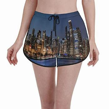 Janrely Comfortable Casual Board Shorts for Women
