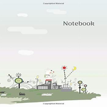 Notebook 8,5quot X 11quot, 200 pages, lined paper journal,