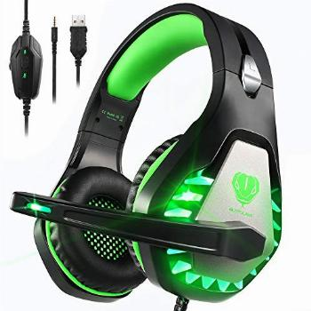 Pacrate Gaming Headset with Microphone for Laptop Xbox One